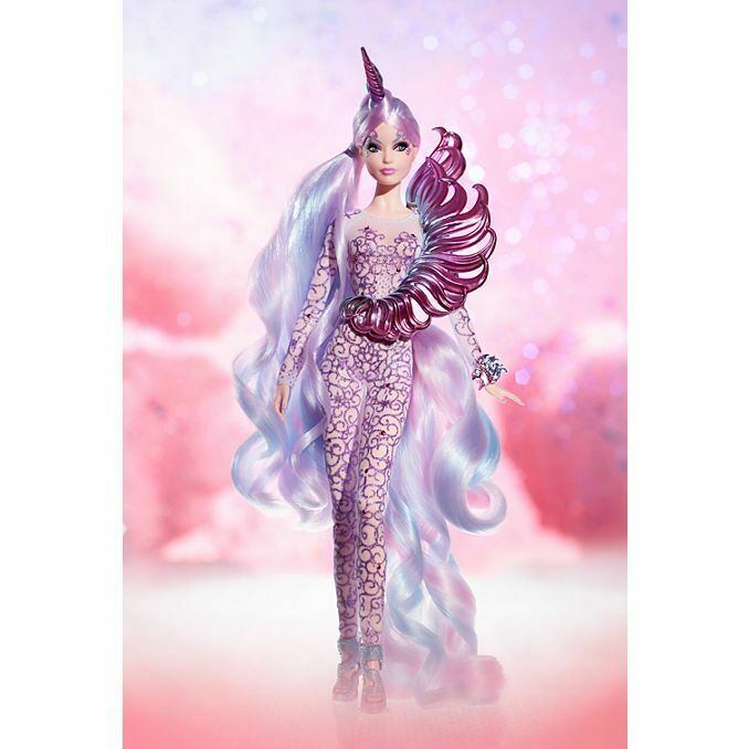 2018 Unicorn Goddess Barbie Doll Mythical Muse Series  FJH82 Gold Label NRFB