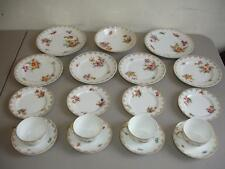 Porcelain China Dishes Made In Czechoslovakia 19 Pc Cups Saucers Plate LA2168