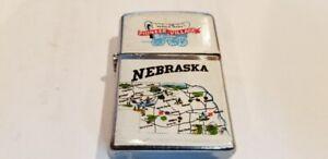 Vintage-Cigarette-Lighter-State-of-Nebraska-Pioneer-Village-In-Working-order