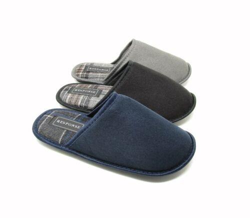 Hommes Unisexe Chaussons Bleu Noir Gris Avec Semelle UK Taille 7 8 9 10 11 12