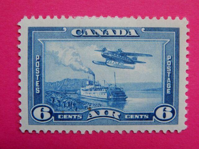 #C6 MH  Air mail stamp: Monoplane over Mackenzie R., NWT  CV = $5.50