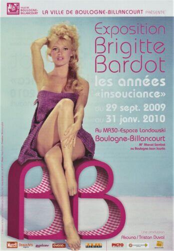 Flyer exposition Brigitte BARDOT Advertising Boulogne-Billancourt 2009-2010