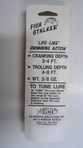 "Fish Stalker Body Bait 5/"" Lure Walleye,Musky,Pike #FSCP-24 THREE Packs"