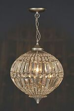 NEXT con perline d'argento effetto lanterna illuminazione soffitto & lampadario NUOVO