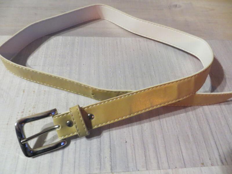 Damen Gürtel In Hellbraun, Größe 75/80, Gesamtlänge Ca. 93 Cm