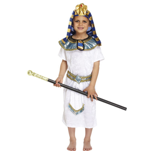 New Egyptian Pharoah King Fancy Dress Book Week Costume Kids Party Child Outfit