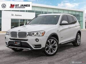 2017 BMW X3 XDrive28i, One Owner, Backup Camera, Panoramic Sunroof, With Navigation