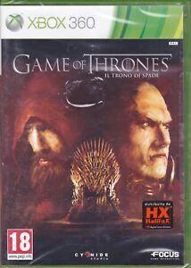 Xbox-360-GAME-OF-THRONES-IL-TRONO-DI-SPADE-nuovo-sigillato-italiano-pal