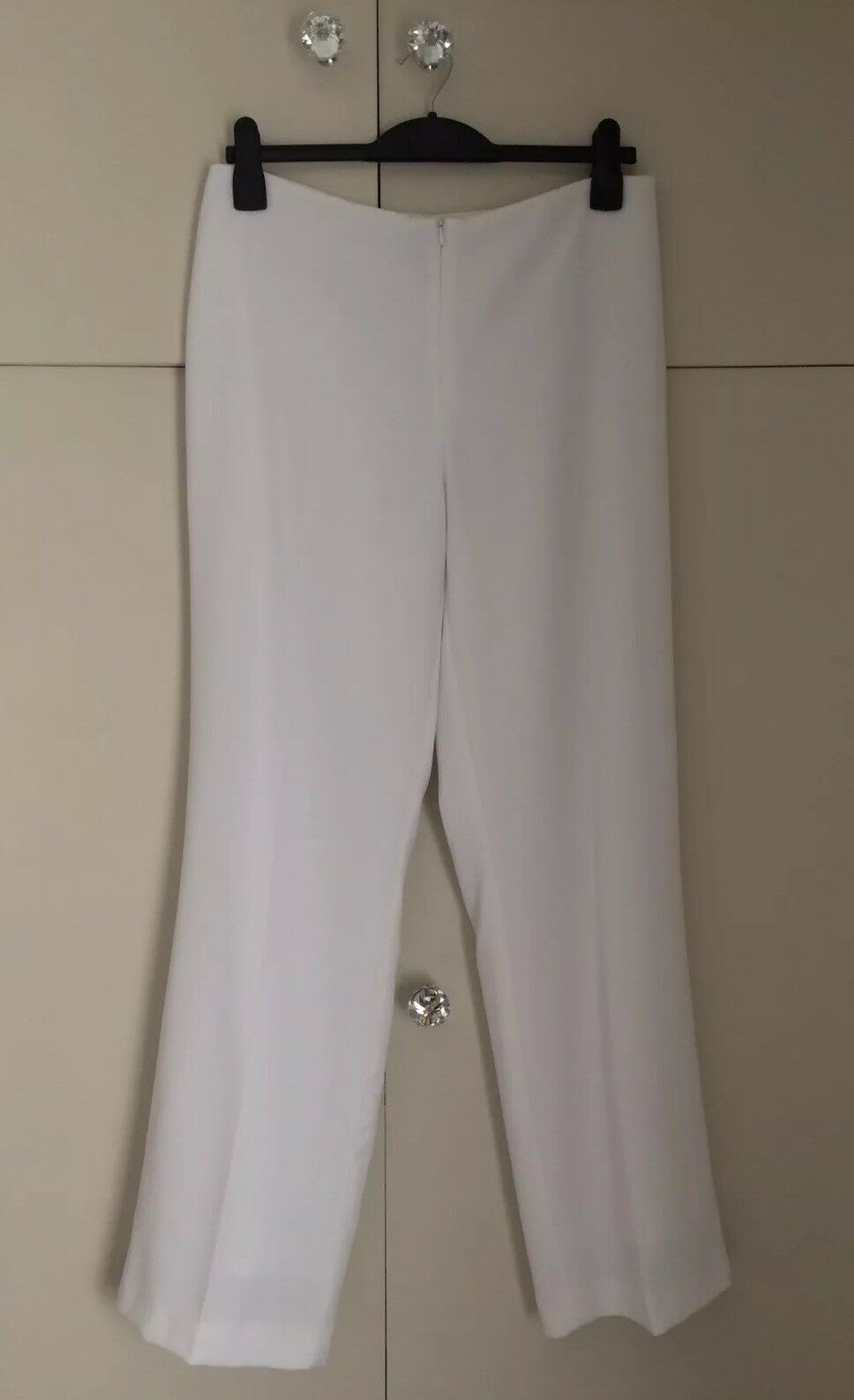 Ladies Joseph Ribkoff White Lined Trousers Size Cruise Races Wedding