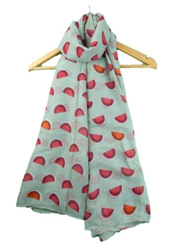 Fruit  Watermelon Strawberry Oranges Print Lightweight Scarf Wrap Beach Cover