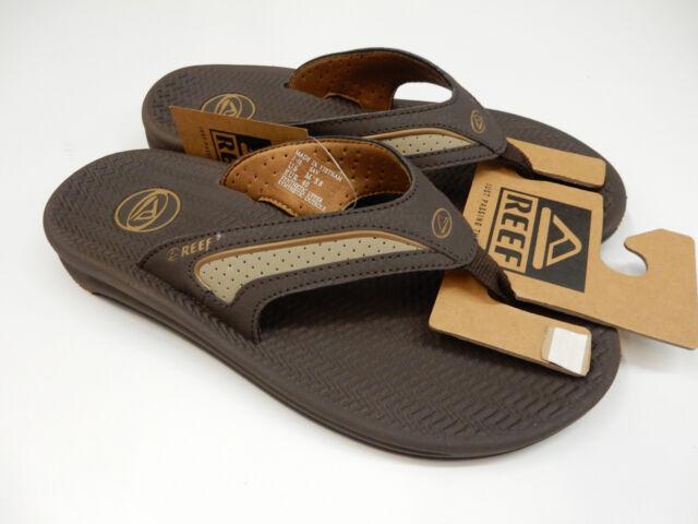 4e70ce992ecf9 Reef Mens Flex Dark Brown Tan Flip Flops Sandals Size 10 for sale ...