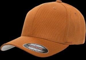 Flexfit Wool Fullcap Baseballcap in texas orange in S//M Cap