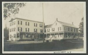 Windham NY: 1909 RPPC Photo Postcard COLE'S PLEASANT VIEW HOUSE Hotel Boarding