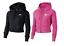 Felpa-con-cappuccio-Donna-Nike-W-NSW-HRTG-Hoodie-Rosa-Nero-Cerniera miniatura 1