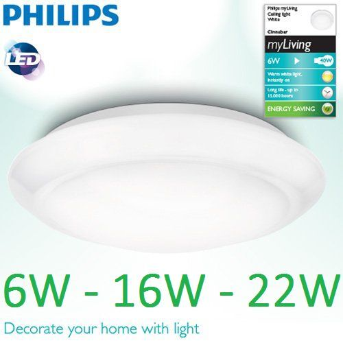 16w philips led bad ceiling light 1100 lumens bathroom lamp approx philips led ceiling light 6w 16w 22w wall lamp warm white cold mozeypictures Choice Image