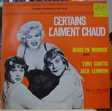 CERTAINS L'AIMENT CHAUD BILLY WILDER/MARILYN MONROE RE-ISSUE FRENCH LP LIBERTY