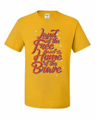 Land of the Free Home of the Brave T-Shirt 4th of July Patriotic Tee Shirt