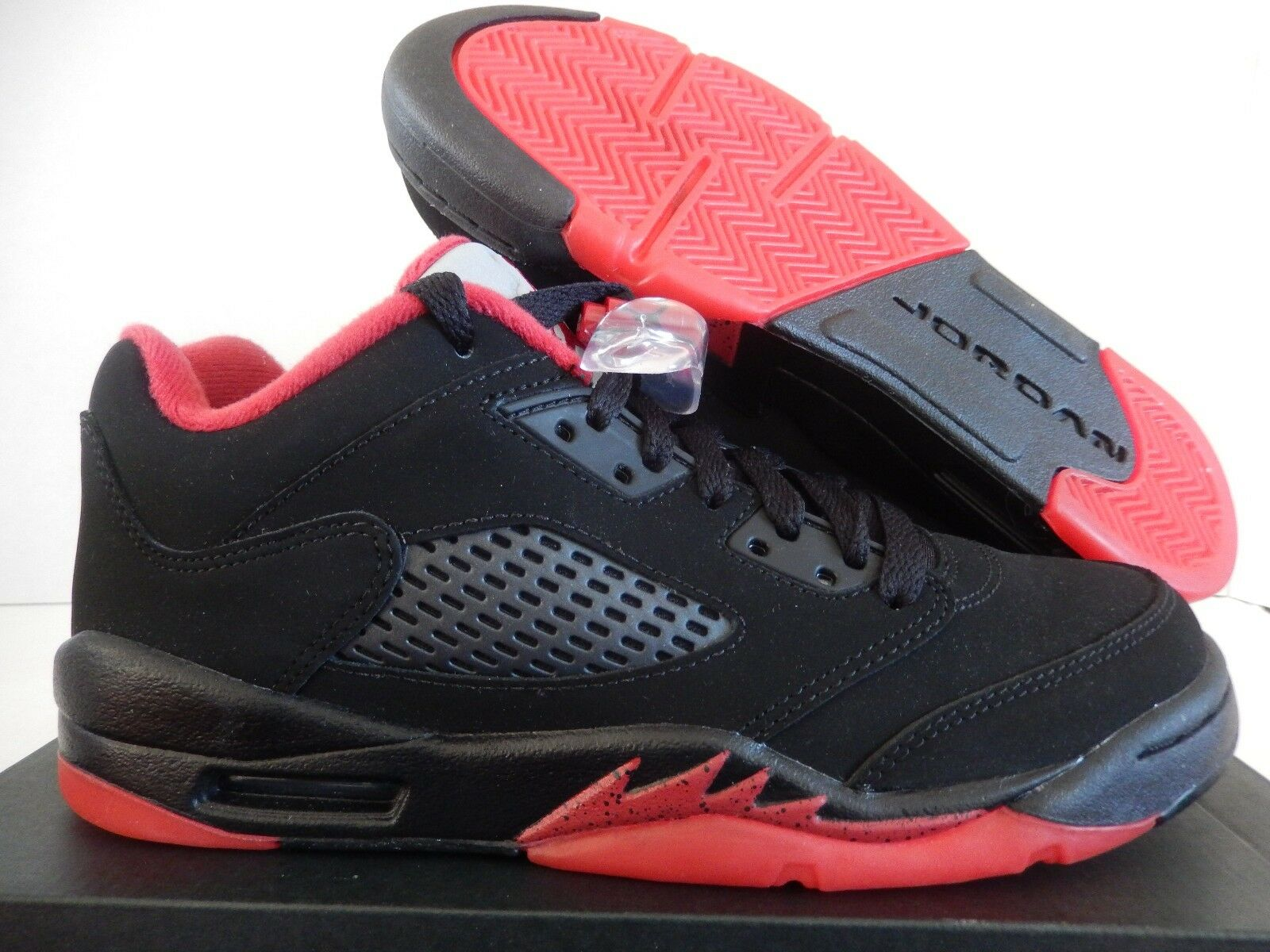 NIKE AIR JORDAN 5 RETRO LOW (GS) BLACK-GYM RED SZ 6.5Y-WMNS SZ 8 [314338-001]