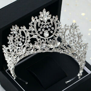 8-5cm-High-Luxury-Crystal-Tiara-Crown-Wedding-Bridal-Party-Pageant-Prom