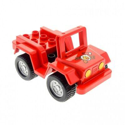 1xLego Duplo Fahrzeug Auto Quad rot Feuerwehr 4499649 4517370 54007c03 54005pb02
