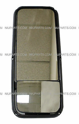 Passenger Side Door Mirror Power Heated Chrome Fit: Kenworth T660 T370 T270 T170 T800 T470 T440