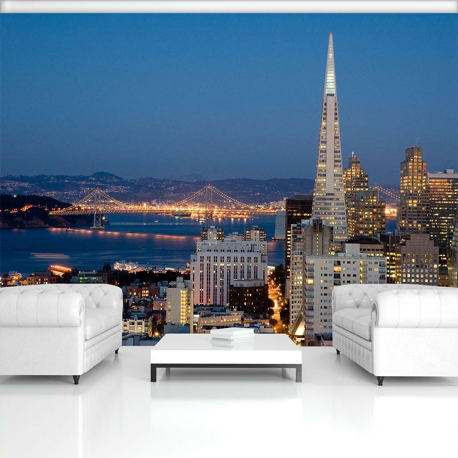 Photo Wallpaper Mural Non-woven 11574_VEN San Francisco  City View Panorama Nigh