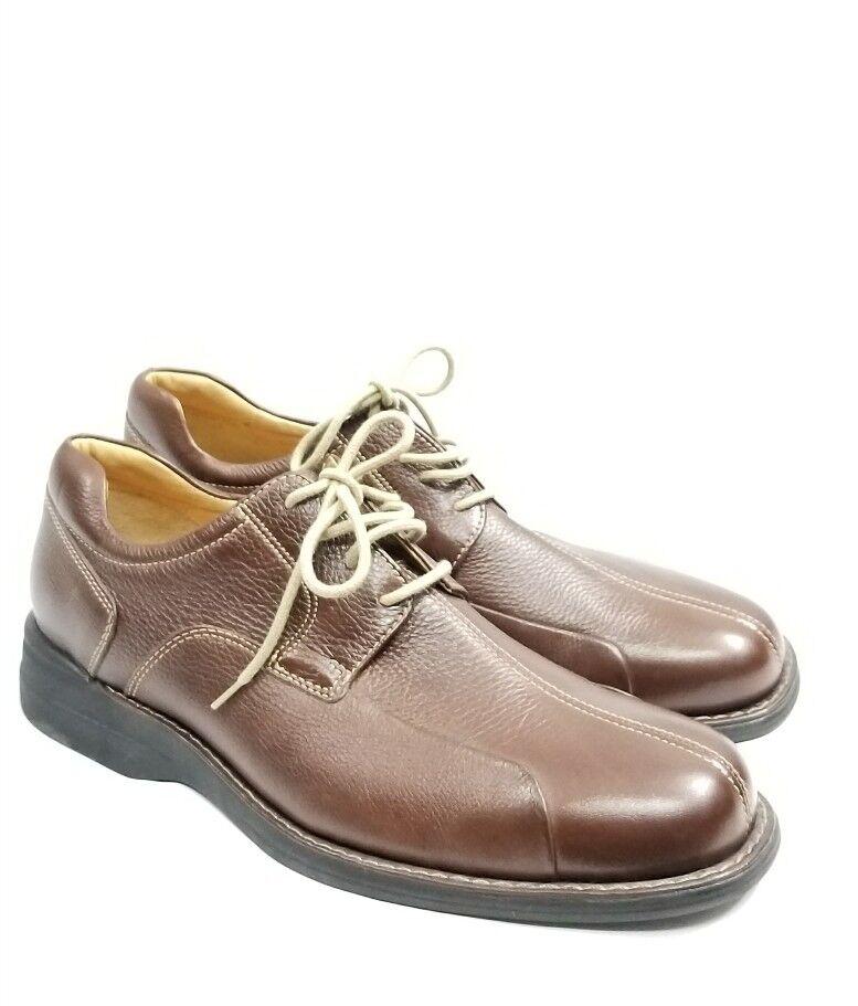 Johnston & Murphy 20 7233 Brown Oxford Sheepskin Dress shoes Size 10.5 M