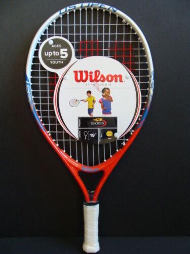 "NEW WILSON 19/"" Junior Tennis Racket Racquet Youth 3.5/"" Grip US Open 5 Years NWT"