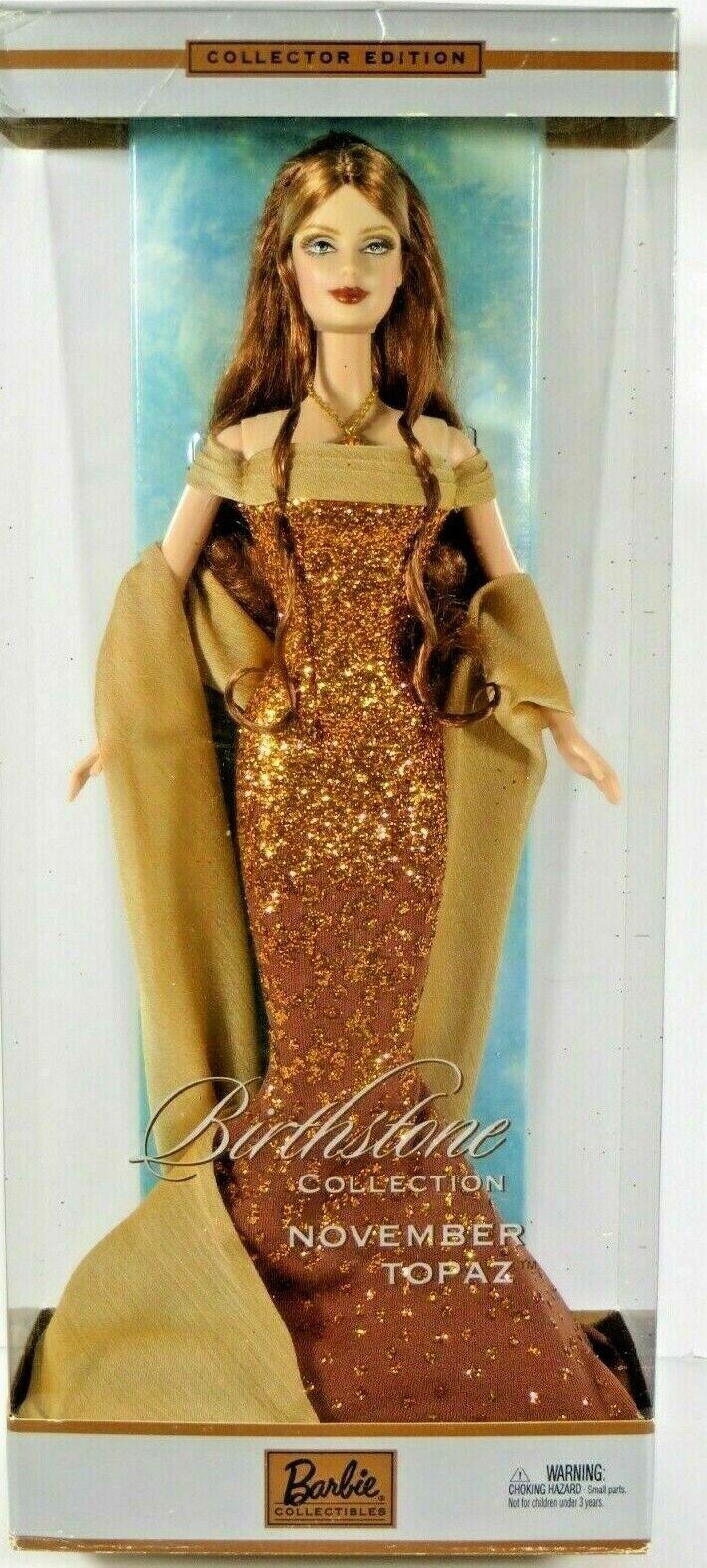 BARBIE BIRTHSTONE TOPAZ NOVEMBER NRFB - new model doll collection Mattel