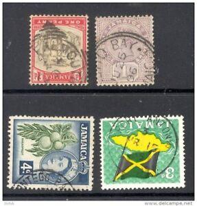 JAMAICA-postmarks-FALMOUTH-ANNOTTO-BAY-MONTEGO-BAY-PORT-ANTONIO-D
