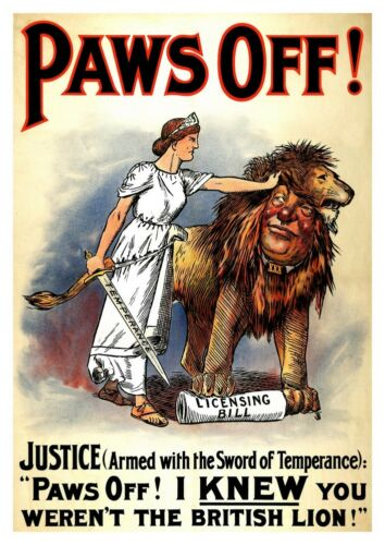 poster reproduction. Paws off : Vintage political advert Wall art poster