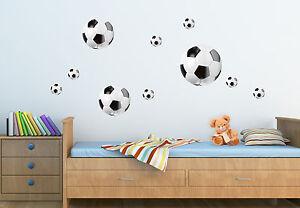 Details Zu Wandsticker Wandtattoo Kinderzimmer Deko Fussball Sport Fussballe Set 23 5x67cm