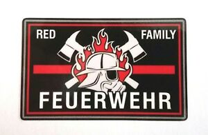 2-x-Aufkleber-red-family-thin-red-line-Groesse-ca-8-x-5-cm-support-Feuerwehr