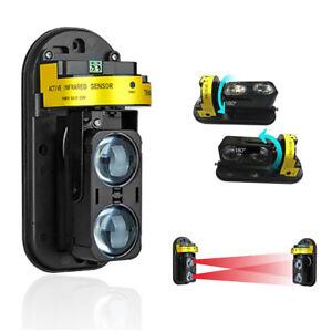 Invisible-Barriere-Detecteur-Jardin-IR-Poutre-Infrarouge-100m-Alarme-Accessoires