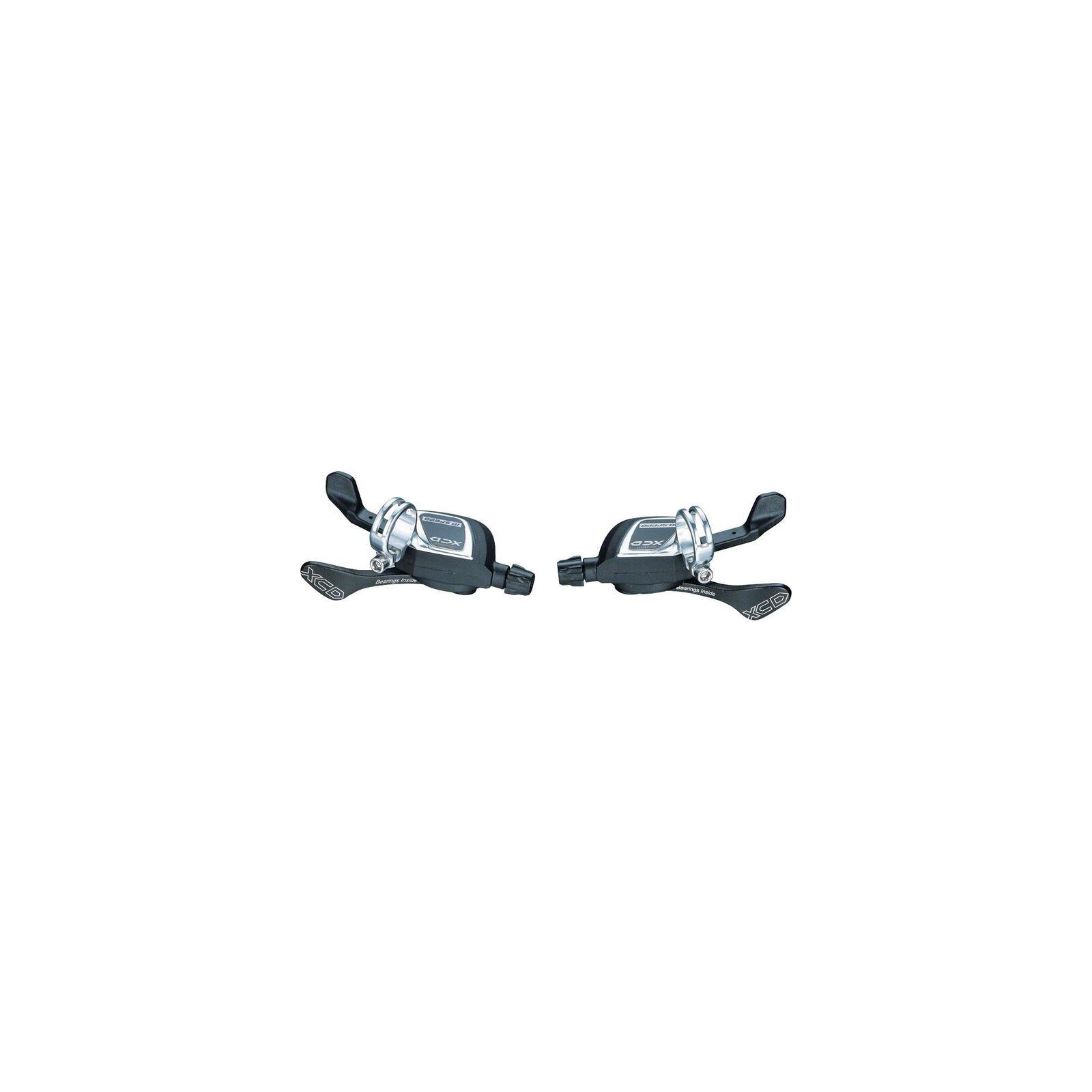 Microshift XCD Xpress 2x10 Trigger Shifters, Shimano 10-Speed