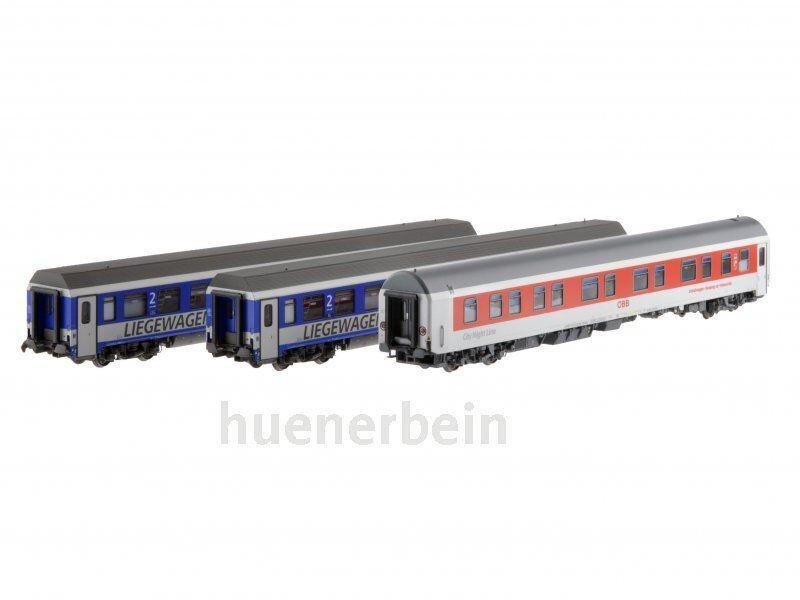 LS Models 47152 ÖBB 2x liegewg bcmz Grey bluee +1x WLABmz schlafwg Ep6 H0 NEW + OVP