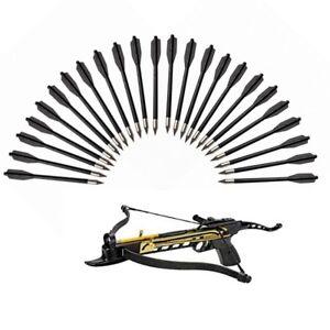 24pcs-Hunting-Crossbow-Archery-Steel-Arrowhead-Shooting-MilitaryTactical-Black