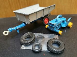 Vintage-Tractor-amp-Trailer-Matchbox-Lesney-Good-condition-Used