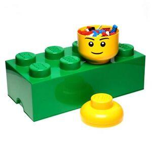 LEGO-almacenaje-Ladrillo-8-VERDE-100-Oficial-Ninos-Juguetes-Almacenaje