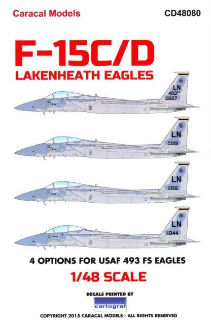 Caracal Decals 1/48 MCDONNELL DOUGLAS F-15 EAGLE Lakenheath Eagles