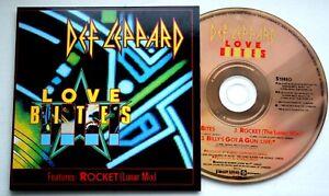 EX-Def-Leppard-LOVE-BITES-ROCKET-BILLY-039-S-GOT-A-GUN-CD-SINGLE-LEPCD-5