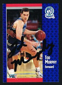 Tod Murphy #124 signed autograph auto 1991-92 Fleer Basketball Trading Card