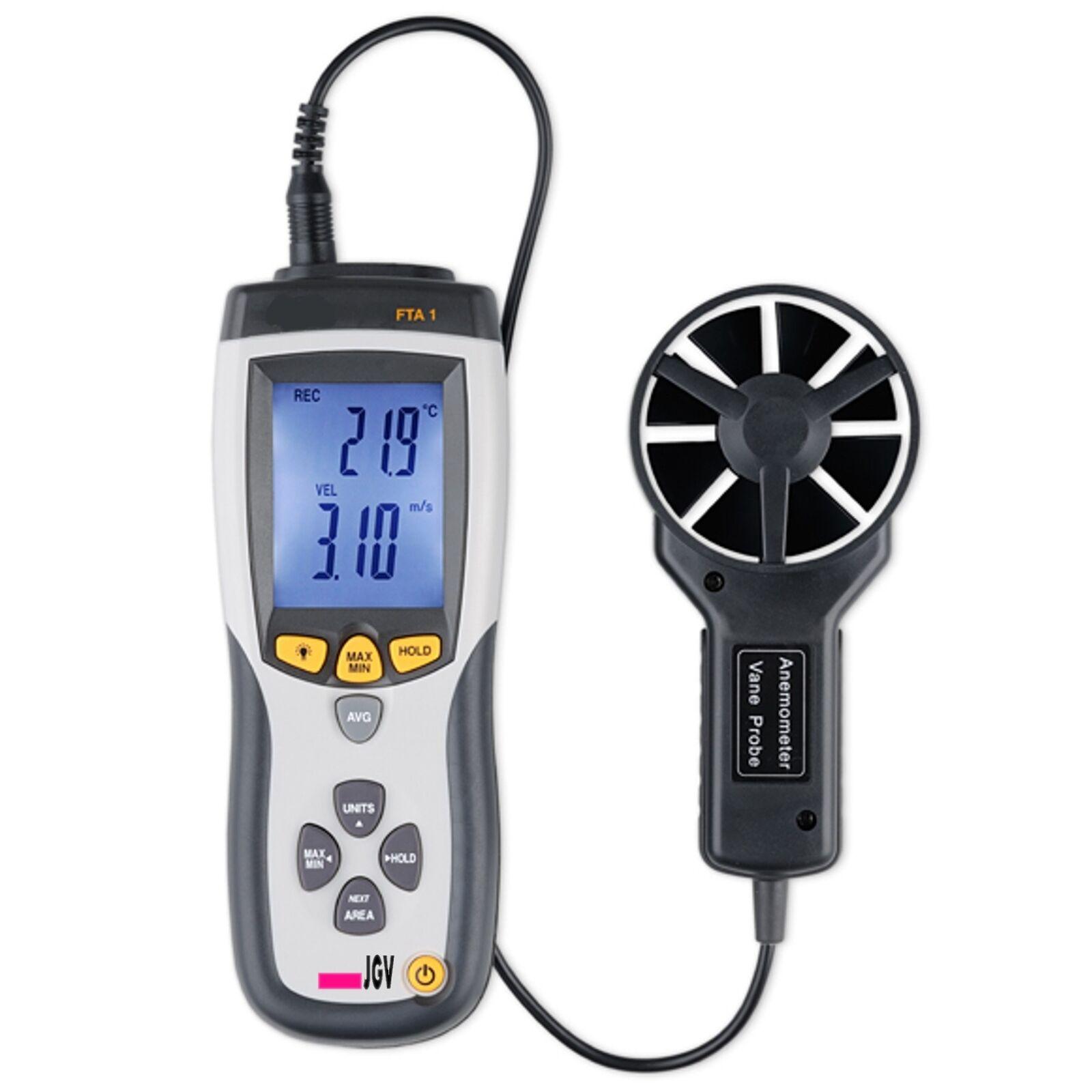 Flügelrad Anemometer Thermometer Messgerät für Luftgeschwindigkeit Luftströmung