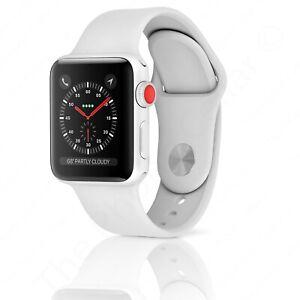 Apple Watch Series 3 38mm Silver Aluminum Case White Sport Band Gps Lte Cellular 190198803870 Ebay