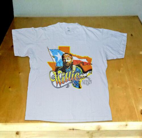 Vtg 80s WILLIE NELSON /& FAMILY ON TOUR 1984 t-shirt gildan USa reprint