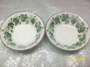 Set-of-two-Nikko-Greenwood-Ivy-Leaf-Cereal-Soup-Bowls-Japan
