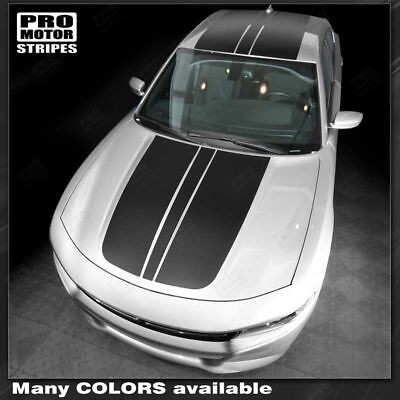 Choose Color Dodge Charger 2015-2019 Hood Accent Decals Stripes
