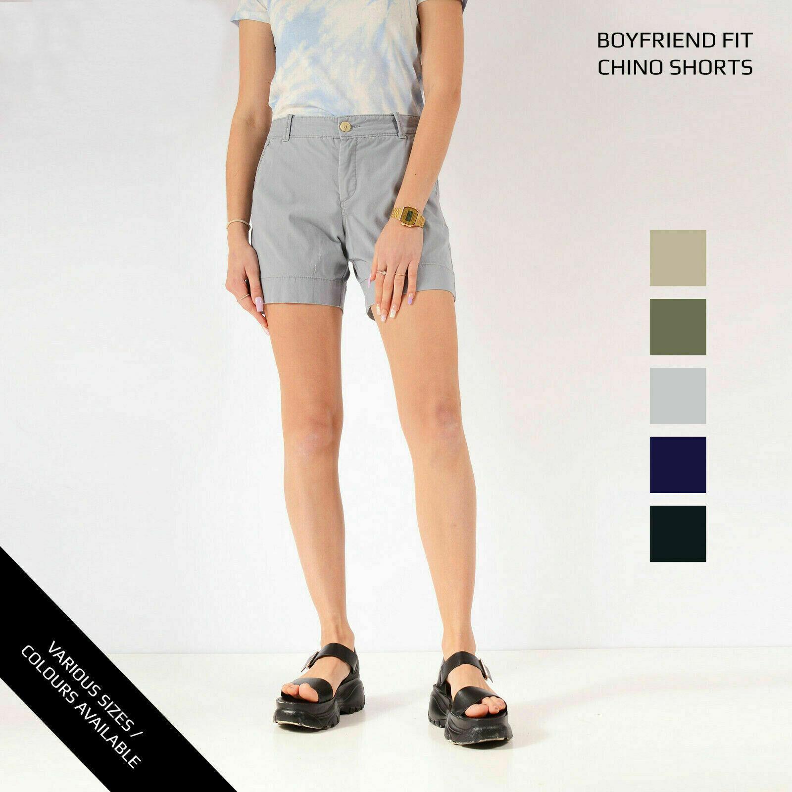 Klasse A DOCKERS Vintage Damen Chino Boyfriend Passform Shorts Größe 6 8 10 12