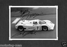 De Joest Porsche 962 Frank Jelinski Bob Wollek firmado autografiado fotografía