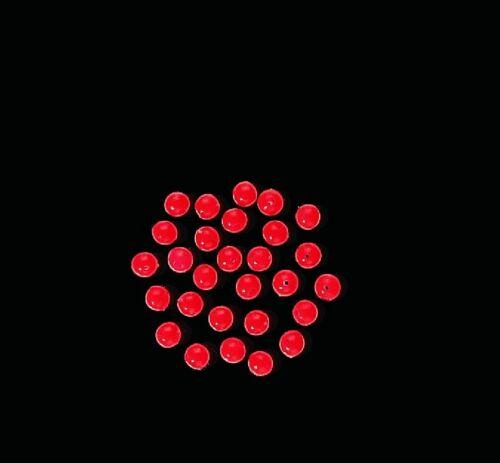Montage Perlen flurescent rot für Meeressysteme 5 mm   20 Stück